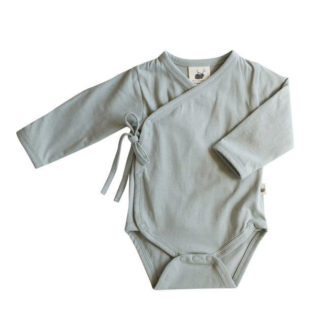 Organic Cotton Kimono Romper Bodysuit Rose Buck and Baa