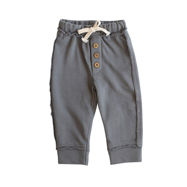Toddler Baby Fleece Dark Grey Joggers Pants Buck and Baa