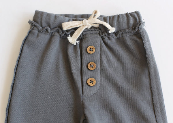 Toddler Baby Fleece Dark Grey Joggers Pants Detail