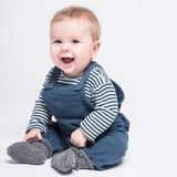 Navy Corduroy Baby Overall Dungarees Organic