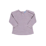 Long Sleeved Striped Baby T-shirt - Heather