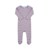 Striped Sleepsuit - Striped Heather