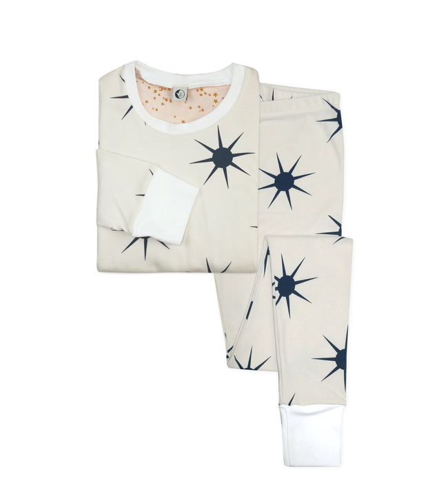 Sleepy Doe Mumma Organic Cotton Collar PJ Set: Dusk