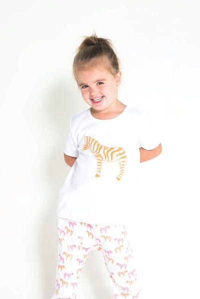 Organic Cotton Leggings - Zebra