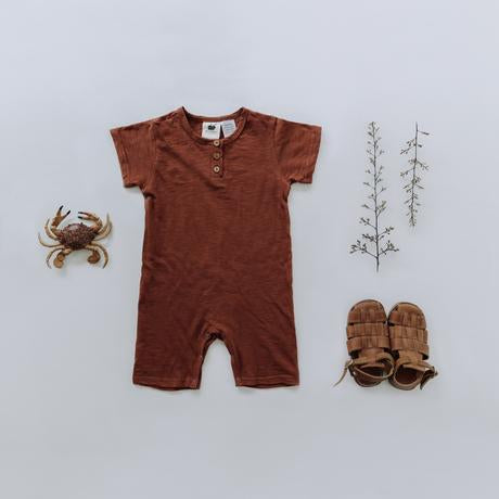 Shorty Playsuit - Russet