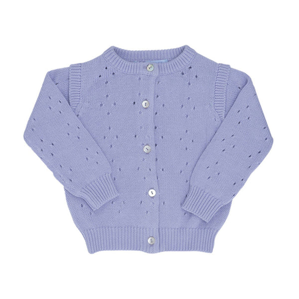Organic Cotton Knit Baby Cardigan - Lavender
