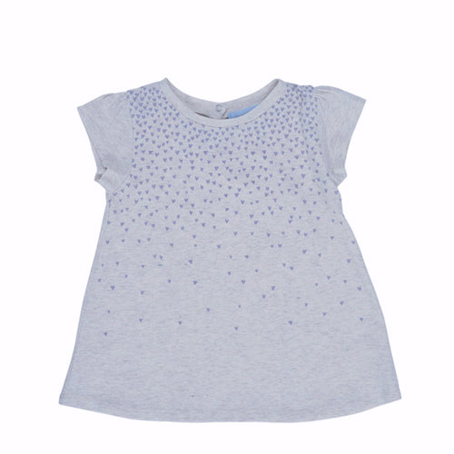Organic cotton baby dress in lavender