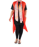 "This Long Line Tunic Top is an essential addition to any wardrobe. Versatile and stylish; pair with pants, leggings or a long skirt.  Team with a Coral & Co Kimono Jacket, Slimline Long Jacket or Skirt and luxurious Silk Scarf for the color coordinated Coral & Co Look.  Relaxed fit Long Line Top style top. Beautiful soft boat neck Long Line Top with short sleeves. Length from shoulder to hem approx. 34""/ 86cm. Body Contouring Slimline permanent micro pleating.  Fabric: 100% Permanent Pleated Polyester Knit, Machine Washable, Non-iron.  Country of Origin: China / Australia. Designed and Made in Australia.  Model is 172cm/5'7.5"