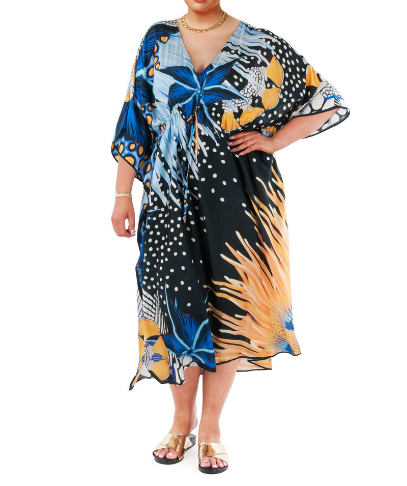 Xmas Gift - Sea Swirl Kaftan and Sarong