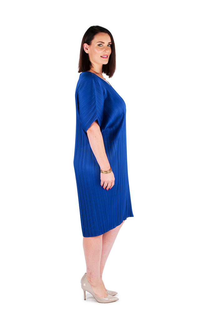 Dress 'Cocoon' Blue Dusty Haze