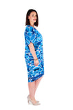 Dress 'Cocoon' Blue Water Reflections