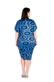 Dress 'Cocoon' Blue Ray