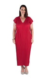 Dress Long  Crimson Coral