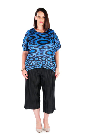 Hi-Lo Box Pleat Top -  Deep Water