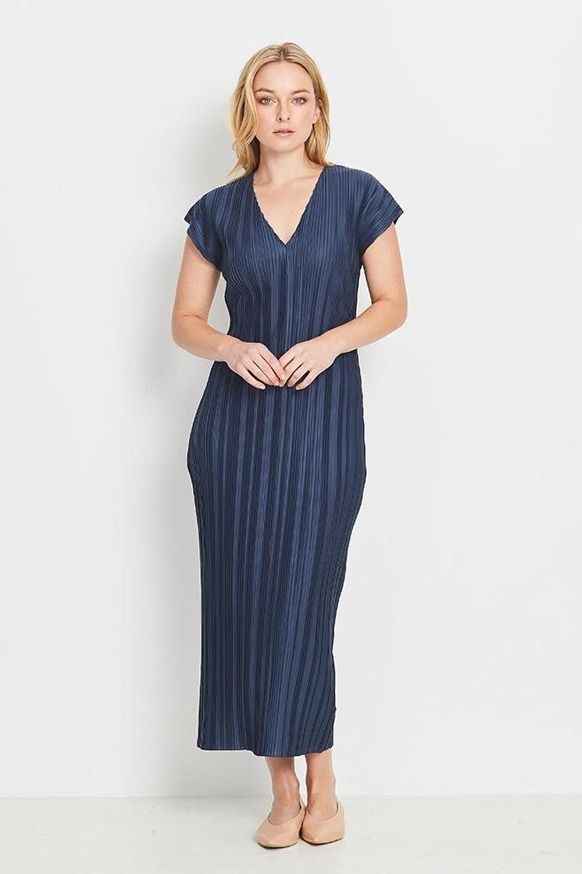 Lyrebird Dress Long - Navy