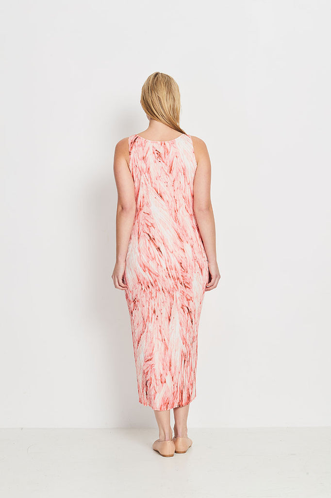 DRESS SINGLET LONG  -   CORAL FEATHERS