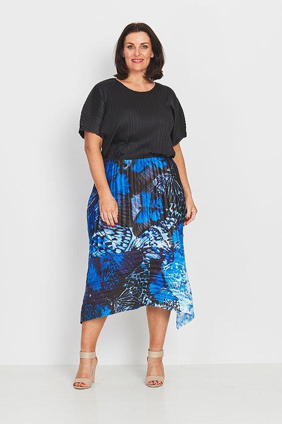 SKIRT A-LINE  -   FOREST BUTTERFLIES