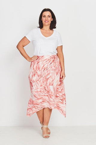 DRESS WRAP RUFFLED  -   MORNING PLUME