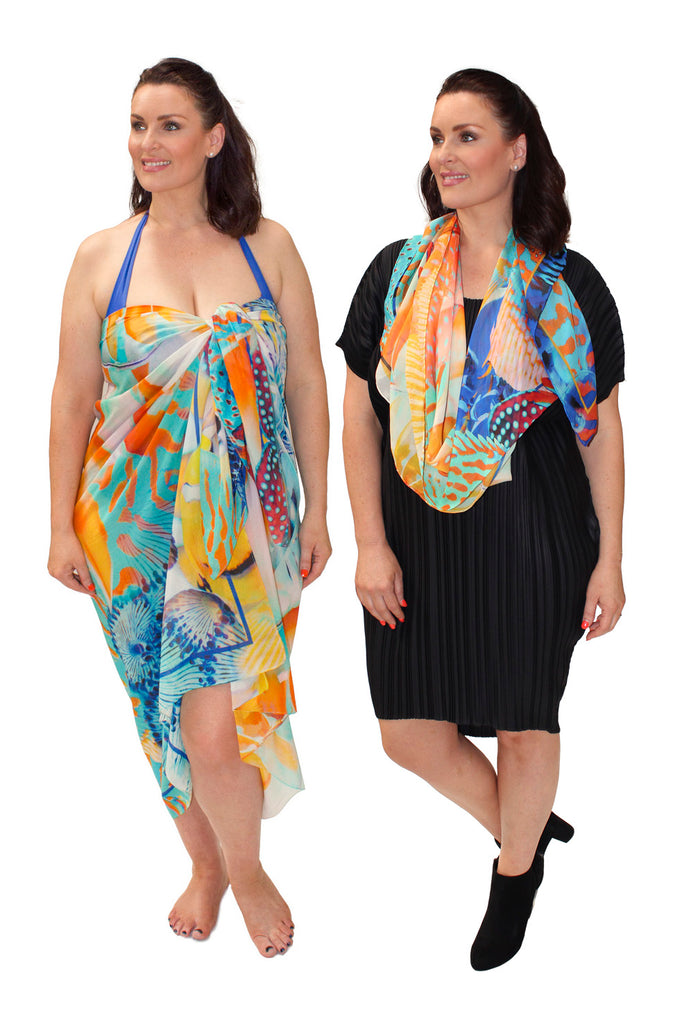 Xmas Gift - Beauties of the Deep Sarong and Scarf