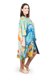 Short Kaftan (Silk 30%-Cotton 70%) Beauties of the Deep