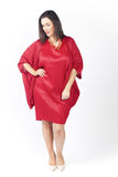 Lyrebird Dress 'Cocoon' Rouge