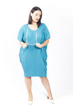 Dress 'Cocoon' Blue Tropic Island