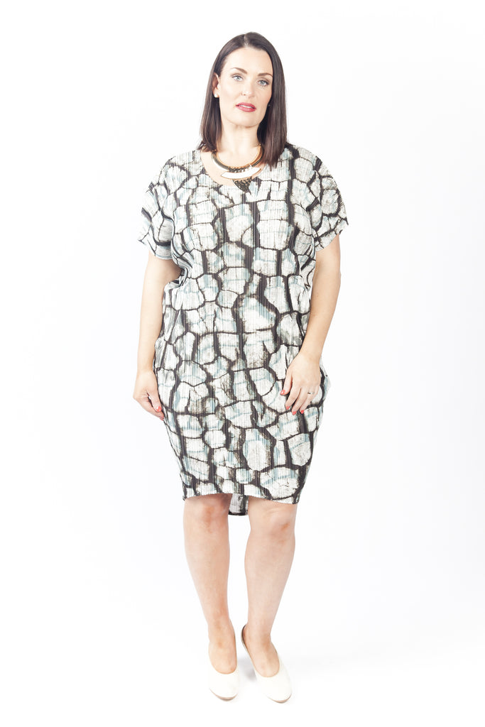 Dress 'Cocoon' Midnight Bark