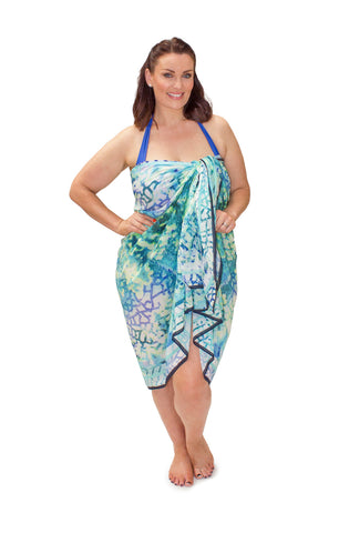 Sarong Tropic Paradise (Silk-Cotton)