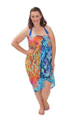 Sarong Sea Swirl Wattle Reef (Silk-Cotton)