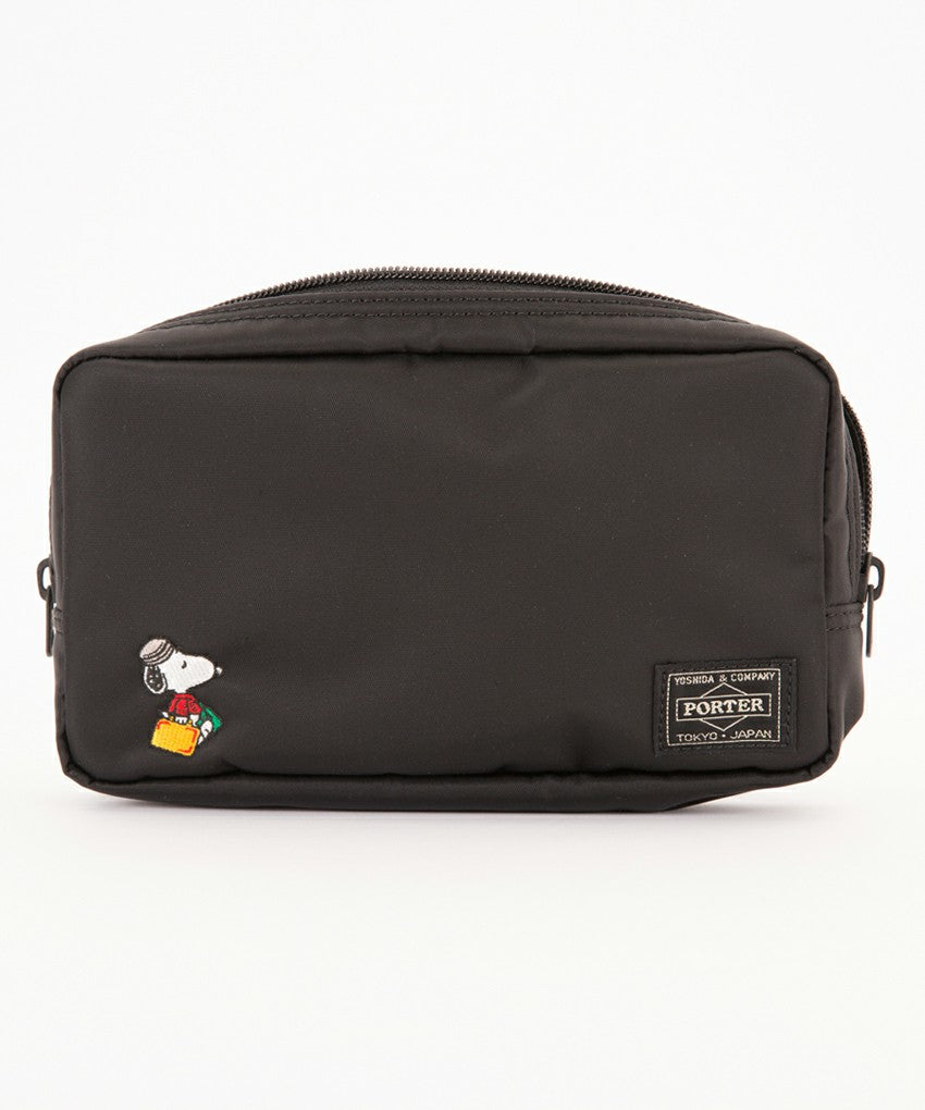 Snoopy Pouch Black PEANUTS JOE PORTER Yoshida Bag Japan