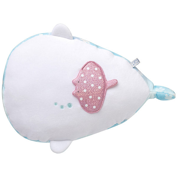 Jinbe San Super Soft Mochi Plush Doll M with Pearl Color Dolphin San-X Japan