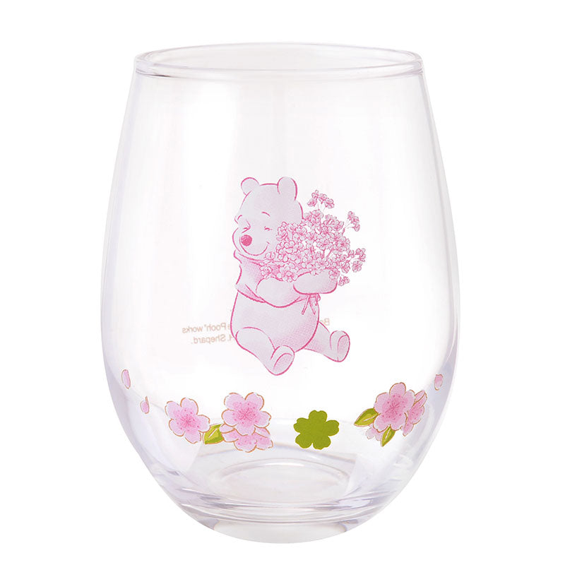 Winnie the Pooh Glass Cup Sakura 2020 Disney Store Japan