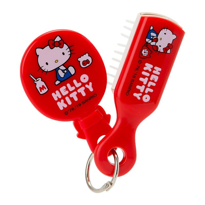 Hello Kitty Hairbrush with mini Mirror Sanrio Japan