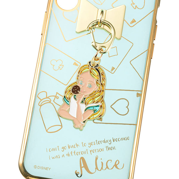 Alice in Wonderland iPhone X Case Cover Charm charming Disney Store Japan