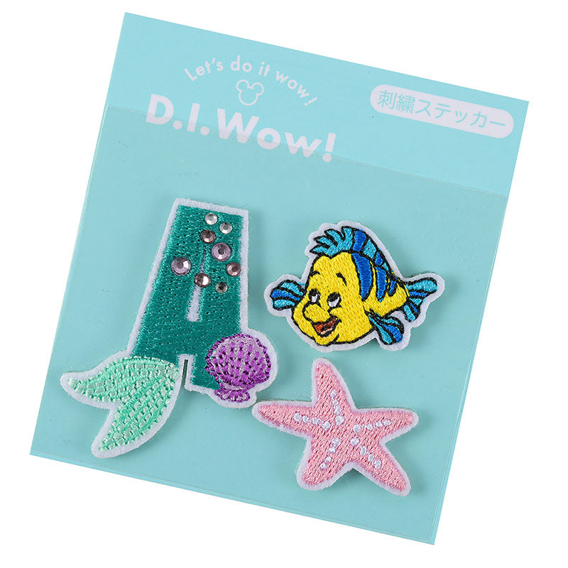 Little Mermaid Ariel & Flounder Emblem Sticker A D.I.Wow! Disney Store Japan