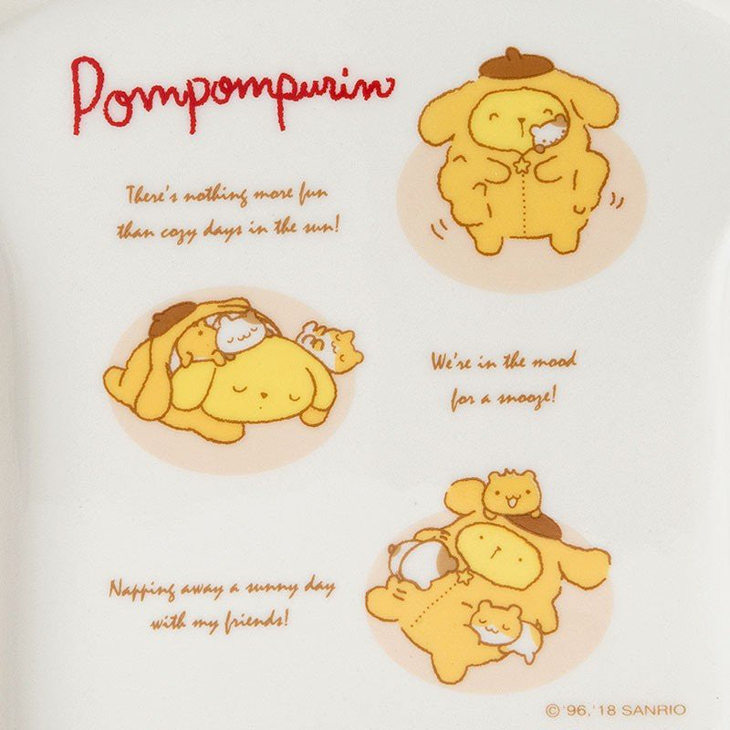Pom Pom Purin Plate Bread Shape Stay Up Late Sanrio Japan