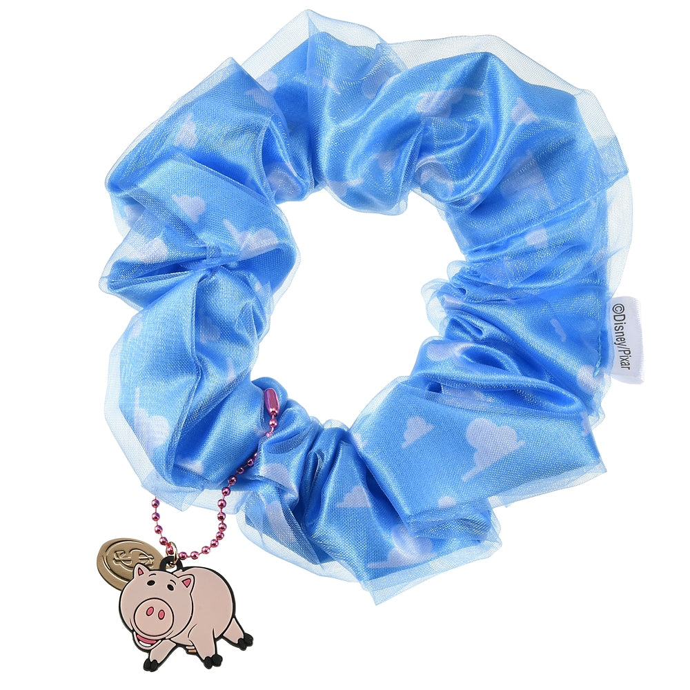 Toy Story Hamm Pig Scrunchy Ponytail Holder Cloud pattern Disney Store Japan