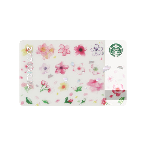 Gift Card Sakura Online Limited 2017 Starbucks Japan