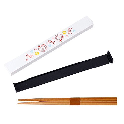 Brown Bear Chopsticks with Case Maneki Neko Cat LINE FRIENDS Japan