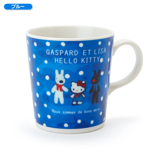 Gaspard et Lisa Hello Kitty Mug Cup Blue Sanrio Japan