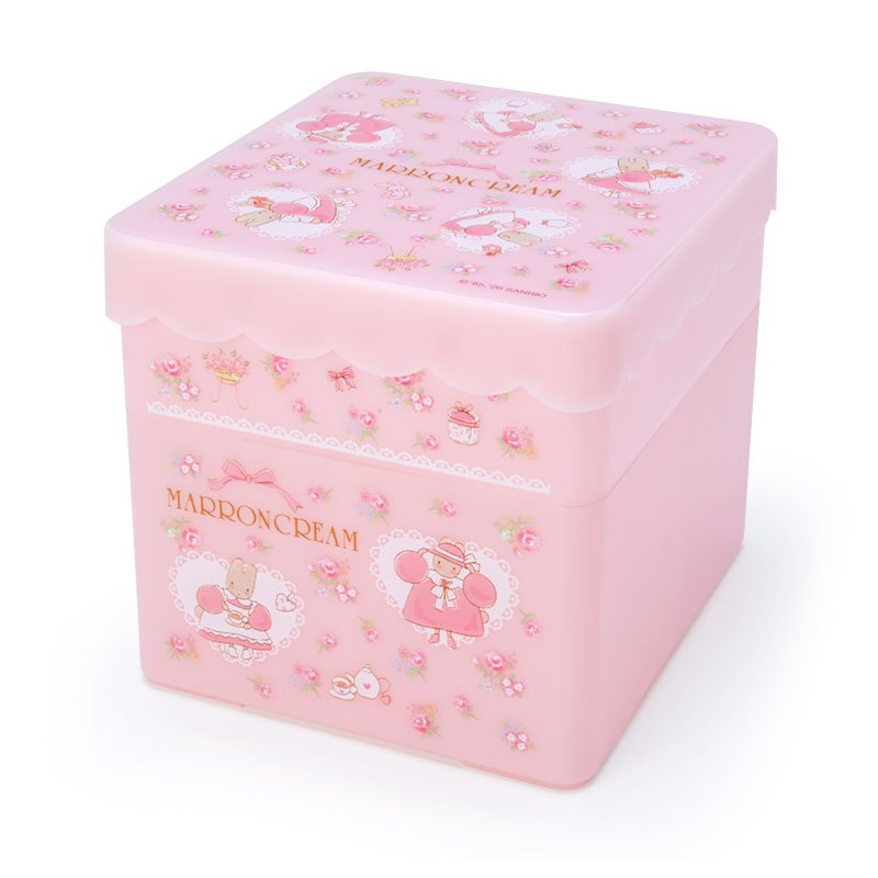 Marron Cream Storage Box with Tray Sanrio Japan