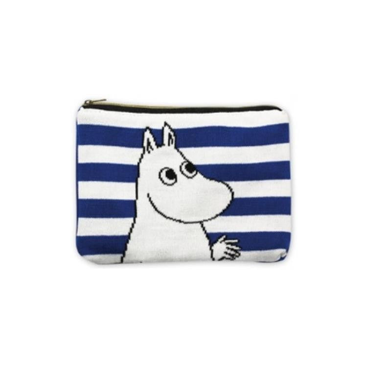Moomin Knit Pouch Blue Moomin Japan