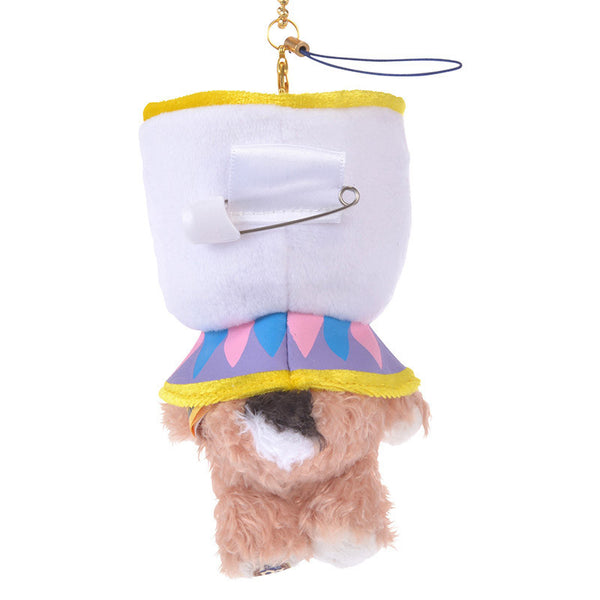 UniBEARsity Blanc Plush Keychain Cosplay Chip Disney Store Japan