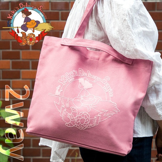 Kiki's Delivery Service 2WAY Tote Shoulder Bag Pink Studio Ghibli Japan 30th