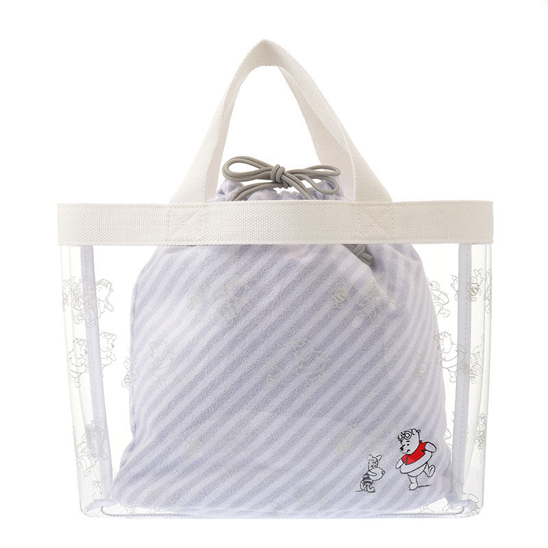 Winnie the Pooh & Piglet Clear Tote Bag with Pouch Disney Store Japan