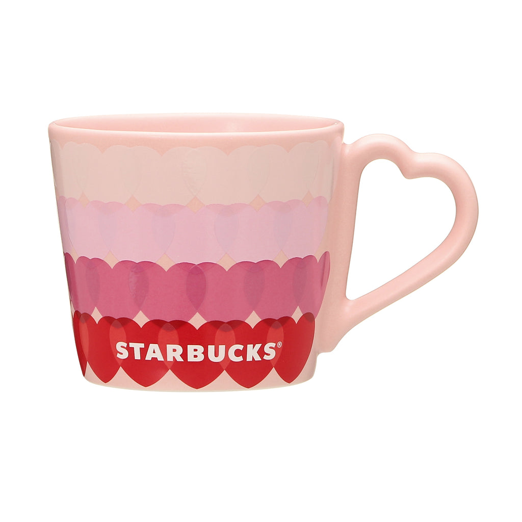 Mug Cup Sticker Heart Valentine's Day 2021 Starbucks Japan