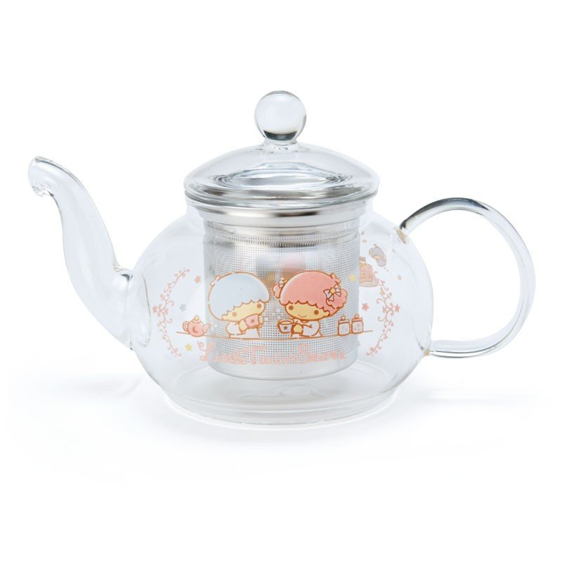 Little Twin Stars Kiki Lala Glass Teapot Winter Tea Time Sanrio Japan