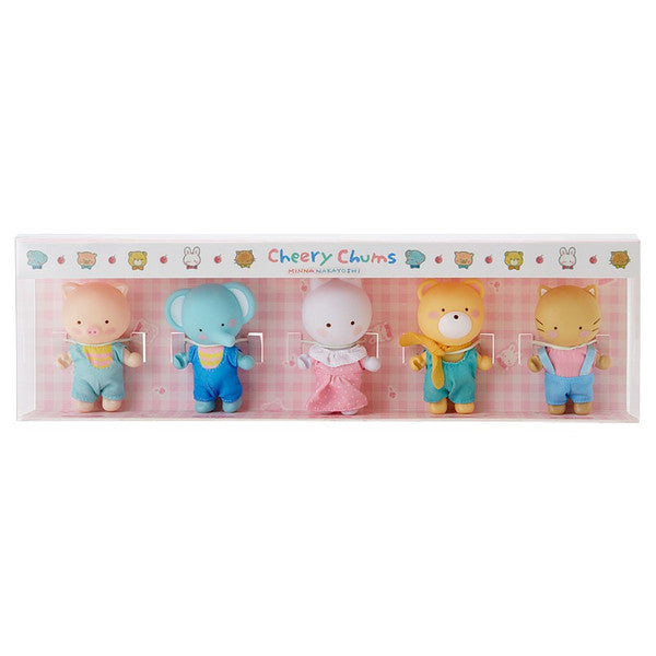 Cheery Chums Chum Soft Vinyl Mascot Set Friends Sanrio Japan