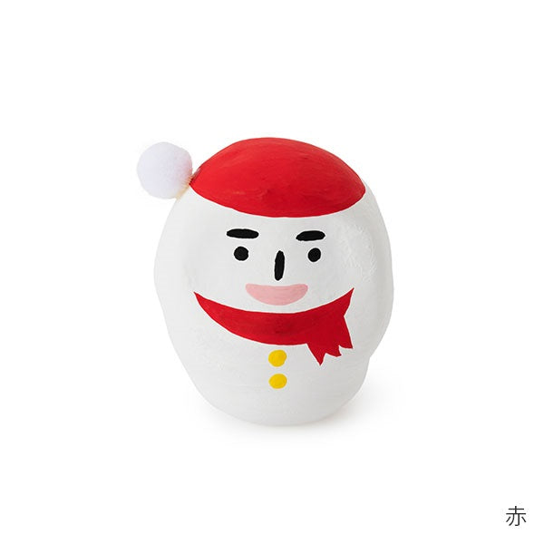 Daruma mini Snowman Red Nakagawa Masashichi Japan