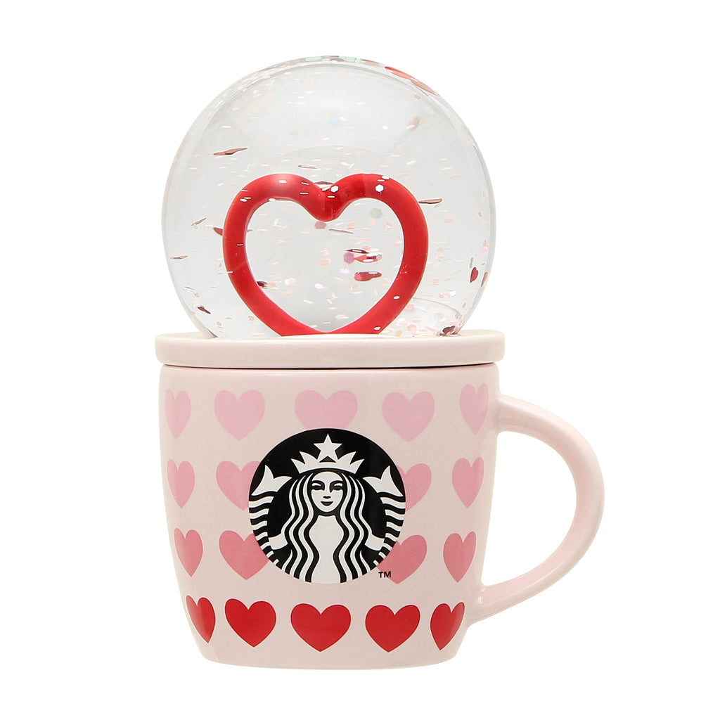 Mug Cup Snow Globe Lid Valentine's Day 2021 Starbucks Japan